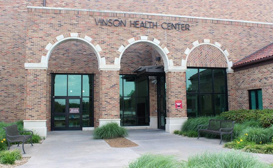 The Bruce and Graciela Redwine Student Wellness Center and the Cinson Health Center are located on the water front of Sikes Lake, on the other side of campus, across Midwestern Parkway. Photo by Rachel Johnson