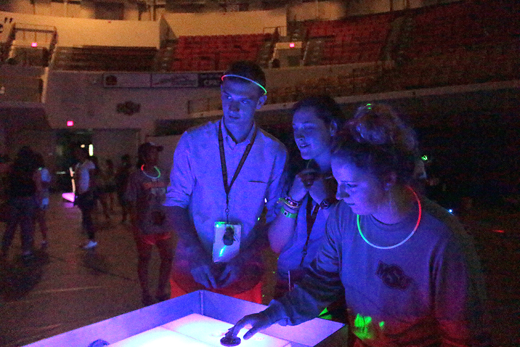 Glow-cade turns out well as replacement for game show