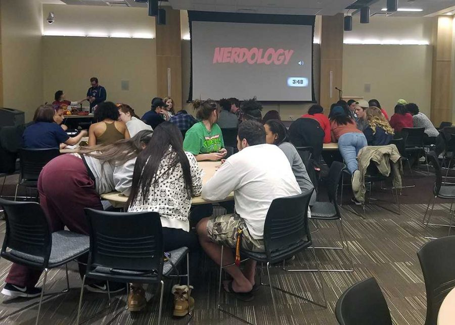 About 50 students participated in the University Programming Board Nerdology, Feb. 3. Contributed photo by Ruby Arriaga used with permission