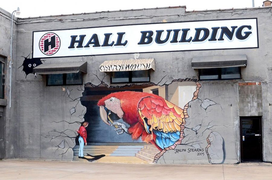 The Parrot mural, painted by local artist Ralph Stearns, is located on the Hall Building at the corner of Kell Boulevard and East Scott Avenue. Photo contributed by Jeanette Charos