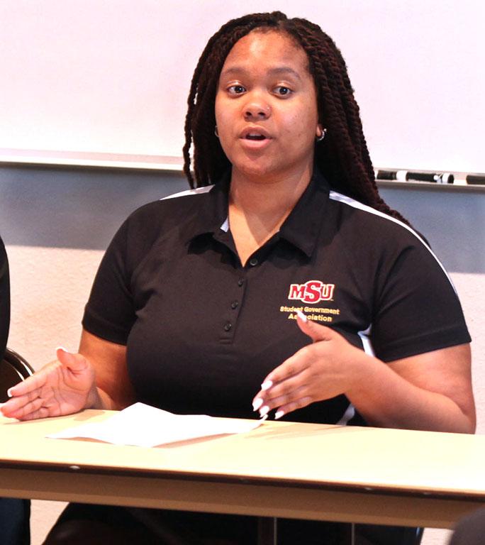 Jaylon Williams, SGA secretary. Photo by Timothy Jones