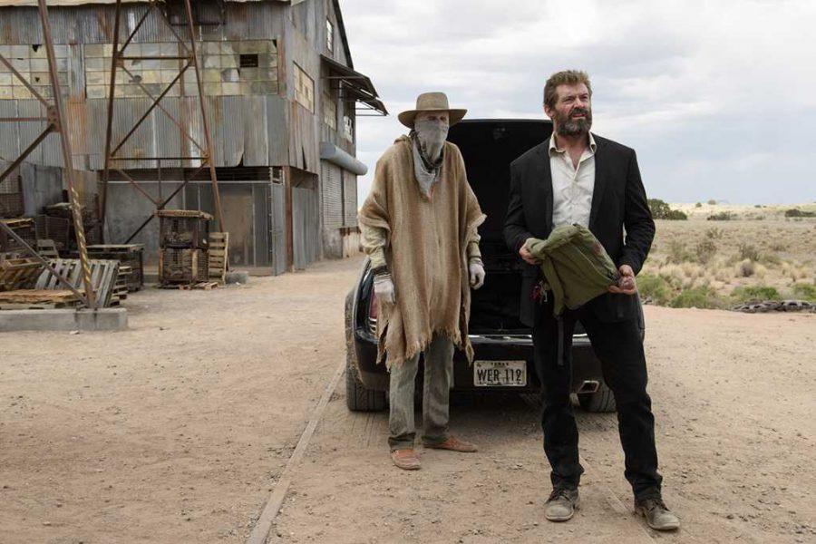 Hugh Jackman and Stephen Merchant in Logan (2017). Photo by Ben Rothstein, Marvel.