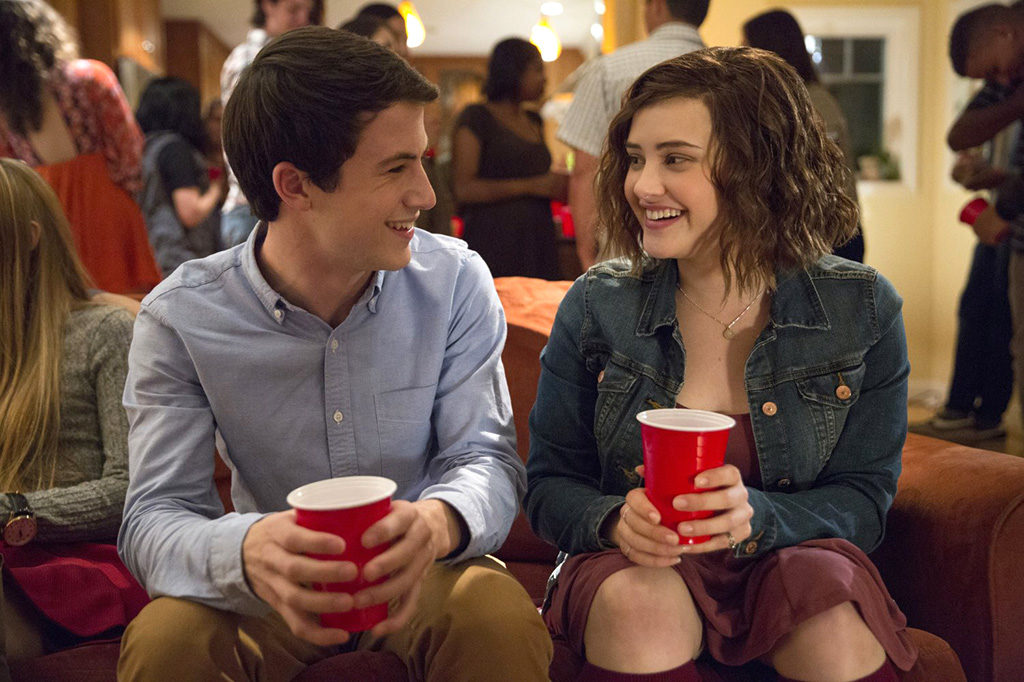 Dylan Minnette as Clay Jensen and Katherine Langford as Hannah Baker in 13 Reasons Why (2017). Photo courtesy of IMDB