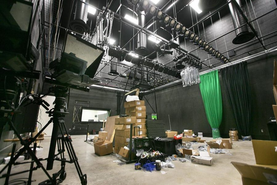 The new broadcast studio is allowing the art department to take over their previous studio.