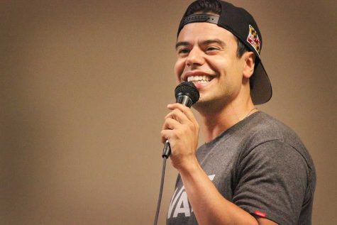 Comedian Francisco Ramos was a guest brought in by University Programming Board as a part of MSU's celebration of Hispanic Heritage Month. About 25 people were in attendance in Clark Student Center Comanche Room Sept. 26. Photo by Rachel Johnson