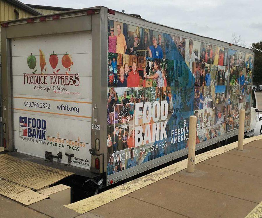 Wichita Falls Area Food Bank truck. Photo by Connor Floyd