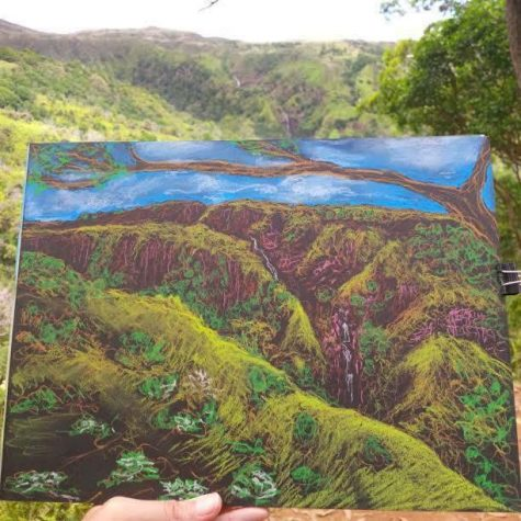 Cathrine Prose chalk pastel drawing of a landscape in Maui. Photo contributed by Cathrine Prose