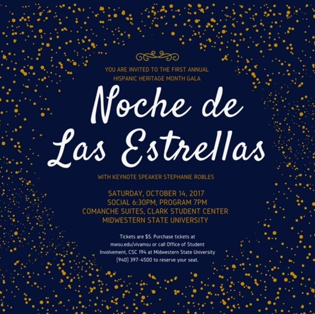 First Hispanic Heritage Month gala to be held Oct. 14