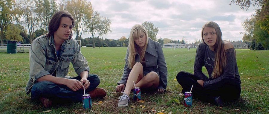 Maika Monroe, Lili Sepe, and Daniel Zovatto in It Follows (2014)