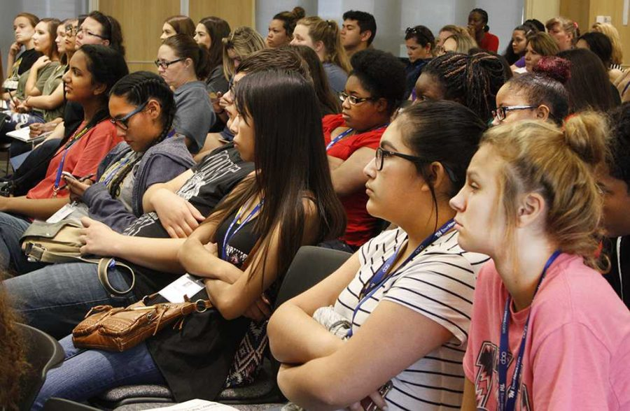 About 155 people attended the second annual MSU Social Media Day Sept. 25, including students from seven area high schools. Photo by Shea James