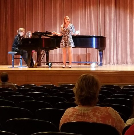 Emory Arnold, music education sophomore, performs at the National Association of Teachers of Singing student recital on Nov. 5 at Akin Auditorium. Photo by Denush Vidanapathirana.