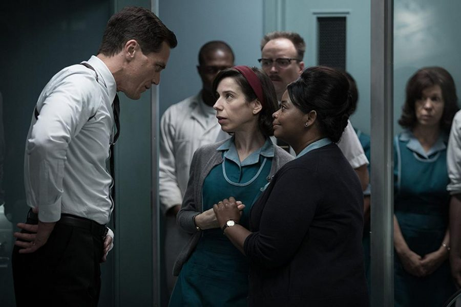 Michael Shannon, Octavia Spencer, and Sally Hawkins in The Shape of Water (2017). Photo by Kerry Hayes