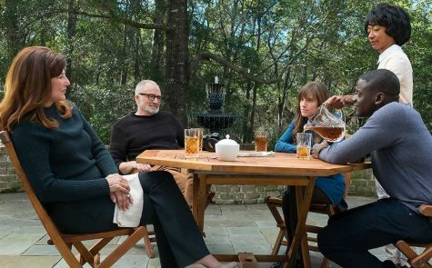 Catherine Keener, Bradley Whitford, Daniel Kaluuya, Betty Gabriel, and Allison Williams in Get Out (2017)