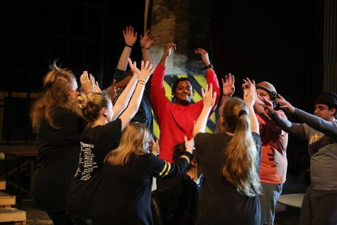 Prospective students join musical cast