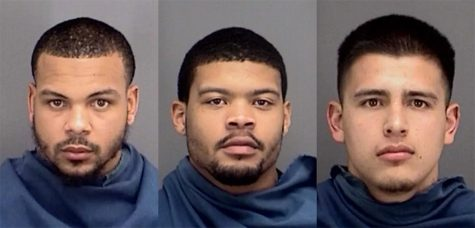 Matthew Rowe, Marcus Reynolds, Jr. and Giacomo Gonzalez were charged with Burglary of a Habitation in connection with an incident at Legacy Hall on March 3. Reynolds was arrested on March 3, while Rowe and Gonzalez were arrested on March 22. Photo courtesy of the Wichita County Sheriff's Office