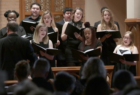 Midwestern Singers preform classical pieces for guest at Burns Chapel on Tuesday, April 24, 2018. Phot by Francisco Martinez