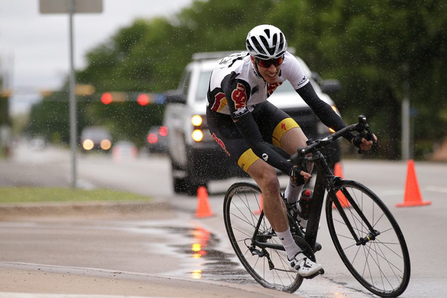 Aaron Benton, mis senior, wins first place in Men's D category for the 2018 Vuelta del Viento at Midwestern State University on Saturday, April 21, 2018. Photo by Francisco Martinez