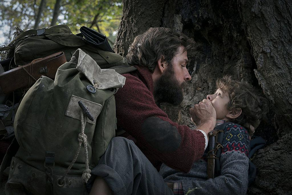 John Krasinski and Noah Jupe in A Quiet Place (2018). Photo Jonny Cournoyer