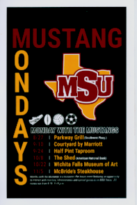 The flyer for Mustang Monday