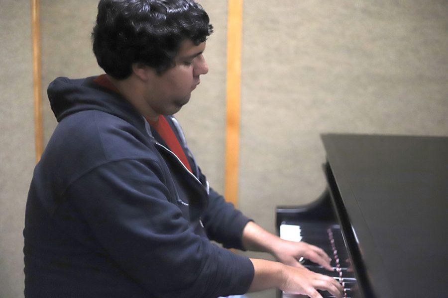 Johnson playing piano