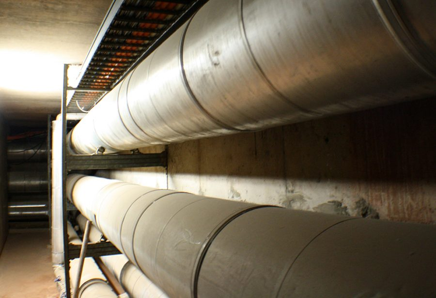 pipes in tunnel