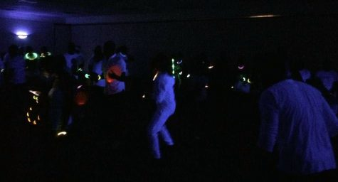To close out the 2018 Caribfest, dozens of students attend the Glow Fete in the Comanachee Suits in the Clark Student Center on Saturday, Oct. 6, 2018. Photo by Rebecca Writing