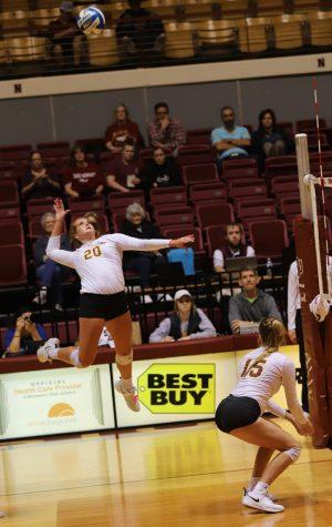 Erin Richburg attacks ball