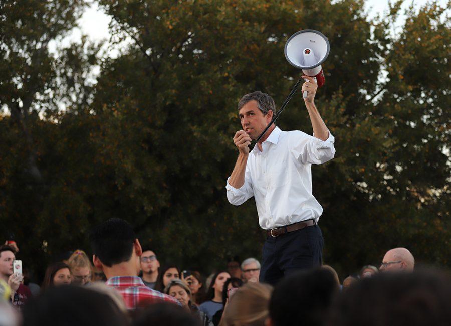 U.S. Senate Candidate, Beto ORourke speaks at Kiwanis Park, Wichita Falls. Photo by Nathan Martinez