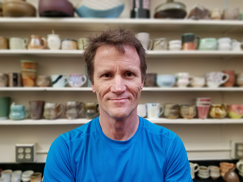 Steve Hilton, professor of ceramics and faculty in residence