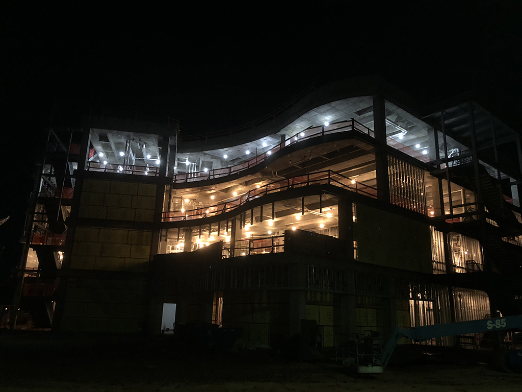 Oct.+12%2C+2018.+The+electricity+was+turned+on+inside+the+new+health+sciences+building.