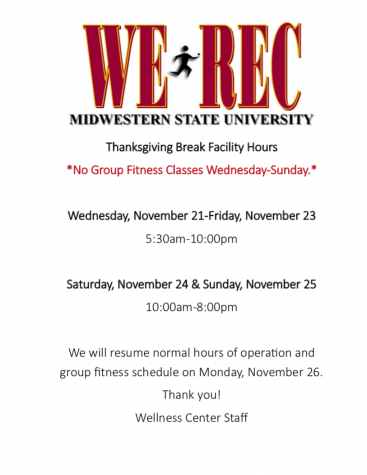 2018 Thanksgiving Holiday Facility Hours