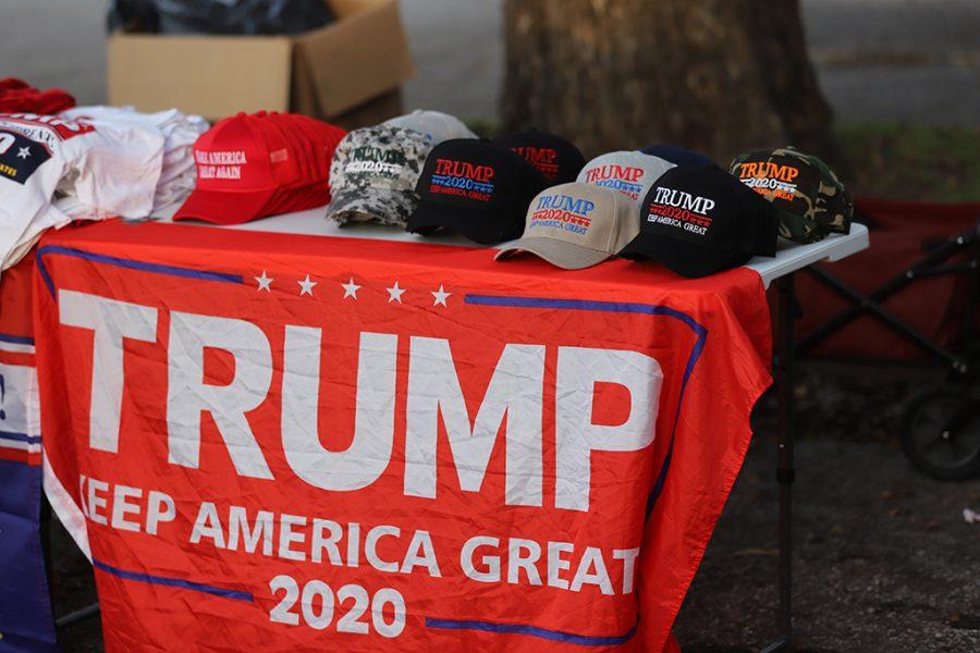 Trump supporters at Senator Ted Cruzs rally at Akin Auditorium. Photo by Nathan Martinez