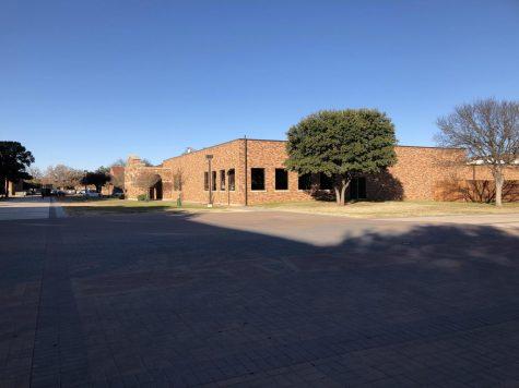 Campus is almost empty during break.