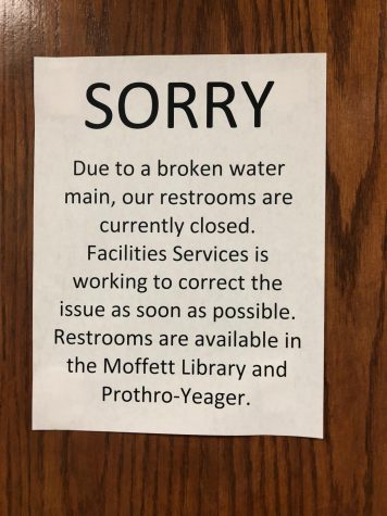 Dining services affected by water pipe