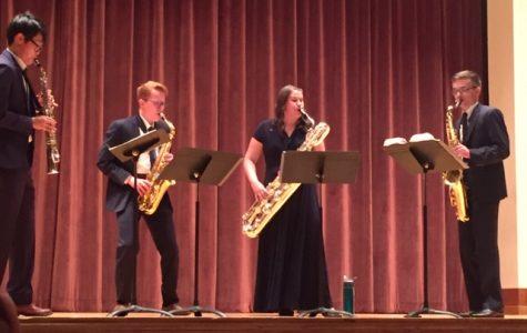 Arizona State University saxophonists perform in Akin