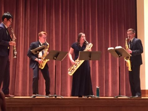 Arizona State University saxophonists perform in Akin