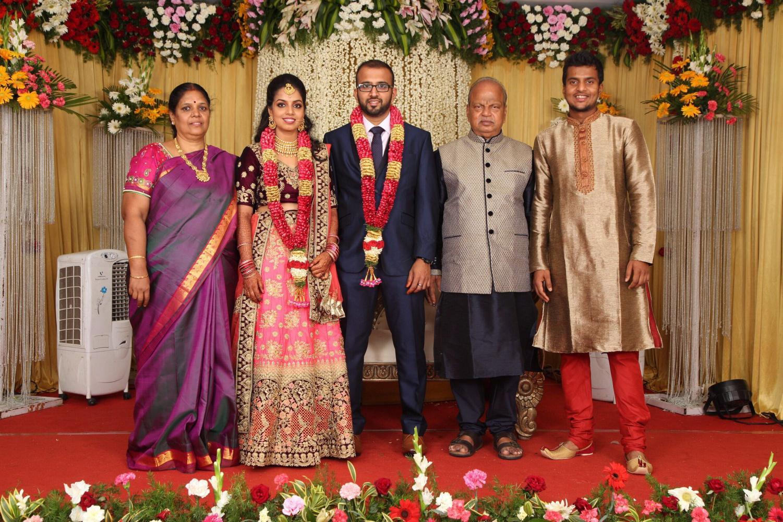 A computer science senior Vasudev Vijayaraman at his sister's wedding ceremony. July, 2018