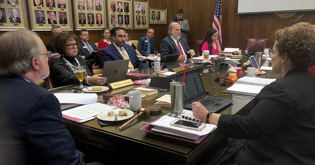 The MSU Board of Regents met Feb. 14 to discuss issues from enrollment to tuition. Photo by Bradley Wilson.