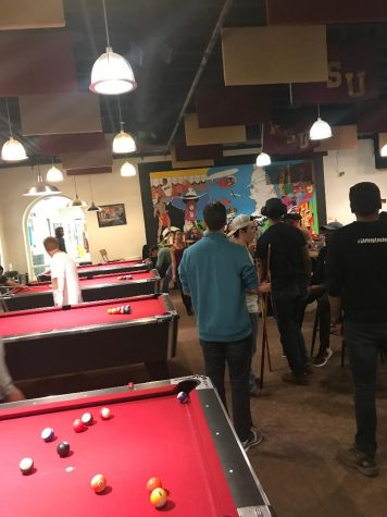 27 students play in pool tournament