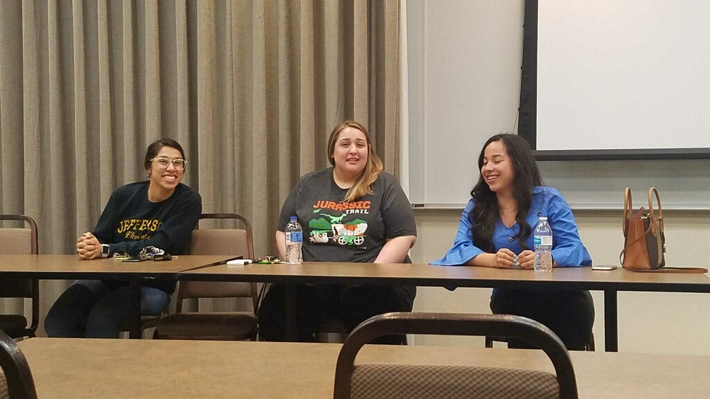 Nia Gonzalez, Heather Campa, and Ana Aguilar share their experiences as first-year teachers April 16.