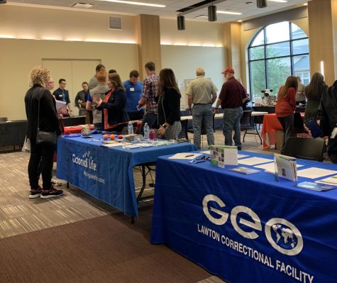 Students at the Summer Employment Fair on April 24