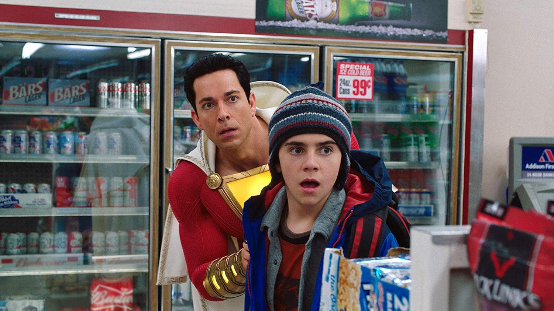 Zachary Levi and Jack Dylan Grazer in Shazam! (2019)