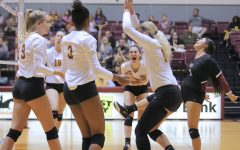 Volleyball secures playoff spot on senior day
