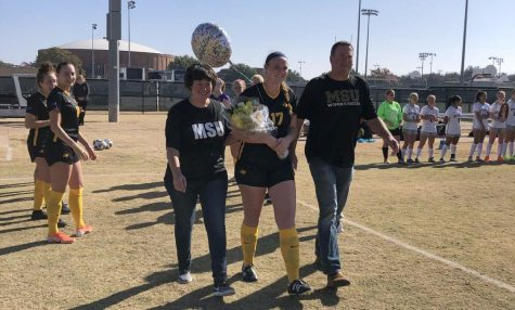Sarah Stewart soars through soccer senior day