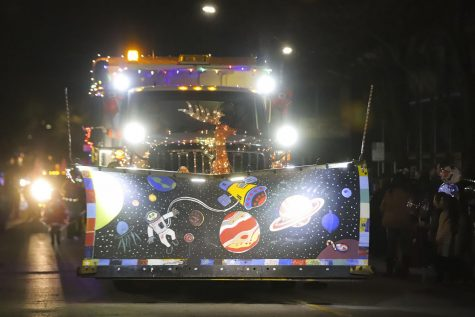 Decorated snowplow