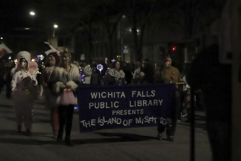 Wichita Falls Public Library in parade