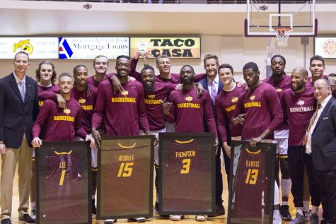 Men's Basketball seniors celebrate their careers
