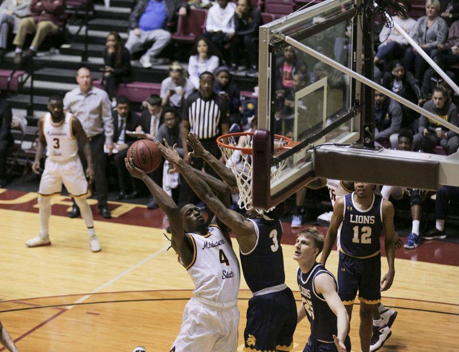 Jalin Brown jumps for a lay-up