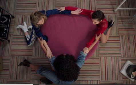 Aisha Dee, Meghann Fahy, and Katie Stevens in To Peg or Not to Peg (2020)
