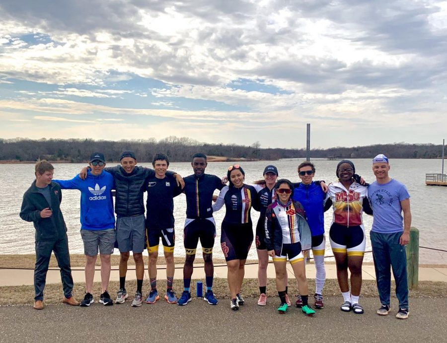 MSU cycling team trains while delivering